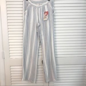 Jolt striped lounge pants beach resort
